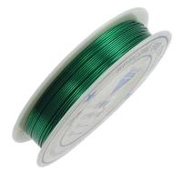 Mosiężny przewód, Mosiądz, ze Plastik, Glazurowane, zielony, bez zawartości niklu, ołowiu i kadmu, 0.50mm, długość:10 m, 20komputery/wiele, sprzedane przez wiele