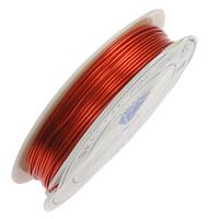 Mosiężny przewód, Mosiądz, ze Plastik, Glazurowane, czerwony, bez zawartości niklu, ołowiu i kadmu, 0.40mm, długość:15 m, 20komputery/wiele, sprzedane przez wiele