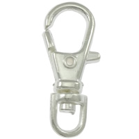 Zinc Alloy Lobster Swivel Clasp, platinum color plated, nickel, lead & cadmium free, 23x10mm, 500PCs/Lot, Sold By Lot