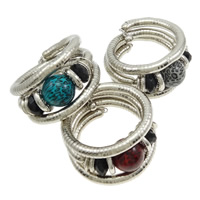 Zinc Alloy Bangle, with Resin, platinum color plated, mixed colors, nickel, lead & cadmium free, 30mm,26mm, Inner Diameter:Approx 55mm, Length:Approx 20 Inch, 10PCs/Lot, Sold By Lot