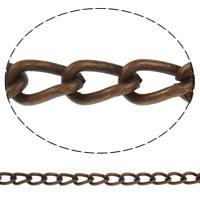 Żelazny drut na pętli, żelazo, Platerowane kolorem starej miedzi, skręt owalne, bez zawartości niklu, ołowiu i kadmu, 8x4.50x1.60mm, długość:około 50 m
