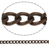 Żelazny drut na pętli, żelazo, Platerowane kolorem starej miedzi, skręt owalne, bez zawartości niklu, ołowiu i kadmu, 8x6x1.70mm, długość:około 50 m