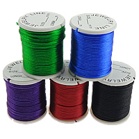 Nylon Cord, with plastic spool, without elastic, South Korea Imported, mixed colors, 1mm, 100PCs/Lot, 5m/PC, Sold By Lot