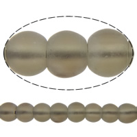 Natural Smoky Quartz Beads, Round, frosted, 6mm, Hole:Approx 1mm, Length:Approx 15.5 Inch, 10Strands/Lot, Approx 67PCs/Strand, Sold By Lot