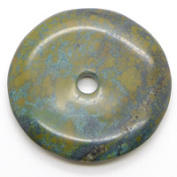 Turquoise Pendant, Natural Turquoise, Flat Round, 50mm, Hole:Approx approx 3mm, Sold By PC