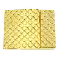 Zinc Alloy Magnetic Clasp, Rectangle, gold color plated, nickel, lead & cadmium free, 26x21x6mm, Hole:Approx 19x3mm, 50PCs/Lot, Sold By Lot