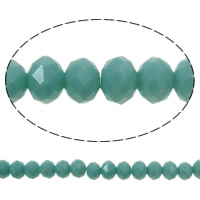 Imitation CRYSTALLIZED™ Element Crystal Beads, Rondelle, faceted & imitation CRYSTALLIZED™ crystal, Lt Sapphire, 8x6mm, Hole:Approx 1mm, Length:Approx 17.7 Inch, 10Strands/Bag, Approx 72PCs/Strand, Sold By Bag