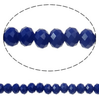 Imitation CRYSTALLIZED™ Element Crystal Beads, Rondelle, faceted & imitation CRYSTALLIZED™ crystal, Dark Sapphire, 6x4mm, Hole:Approx 1mm, Length:Approx 16.1 Inch, 10Strands/Bag, Approx 97PCs/Strand, Sold By Bag