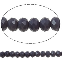 Imitation CRYSTALLIZED™ Element Crystal Beads, Rondelle, faceted & imitation CRYSTALLIZED™ crystal, Dark Violet, 6x4mm, Hole:Approx 1mm, Length:Approx 16.1 Inch, 10Strands/Bag, Approx 97PCs/Strand, Sold By Bag