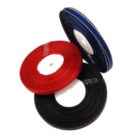 Grosgrain Ribbon, single-sided, mixed colors, 10mm, Length:400 Yard, 4PCs/Lot, 100Yards/PC, Sold By Lot