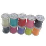 Kryształowa nić, Kryształowy sznur, ze Szpulka plastikowa, Elastyczne, mieszane kolory, 0.60mm, długość:100 m, 10nici/wiele, 10m/PC, sprzedane przez wiele