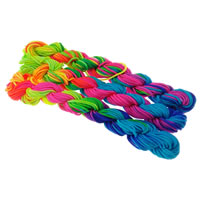 Nylon Cord, different size for choice, rainbow colors, 5Bags/Lot, 10PCs/Bag, Sold By Lot