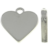 Zinc Alloy Heart Pendants, silver color plated, nickel, lead & cadmium free, 17.50x17x3mm, Hole:Approx 2mm, 10PCs/Bag, Sold By Bag