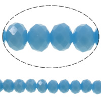 Imitation CRYSTALLIZED™ Element Crystal Beads, Rondelle, faceted & imitation CRYSTALLIZED™ crystal, Aquamarine, 8x6mm, Hole:Approx 1mm, Length:Approx 17.7 Inch, 10Strands/Bag, Approx 70PCs/Strand, Sold By Bag