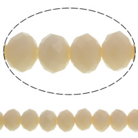 Imitation CRYSTALLIZED™ Element Crystal Beads, Rondelle, faceted & imitation CRYSTALLIZED™ crystal, Apricot, 10x8mm, Hole:Approx 1mm, Length:Approx 21.2 Inch, 10Strands/Bag, Approx 70PCs/Strand, Sold By Bag