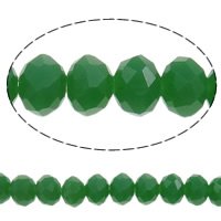 Imitation CRYSTALLIZED™ Element Crystal Beads, Rondelle, faceted & imitation CRYSTALLIZED™ crystal, Crystal Green, 4x3mm, Hole:Approx 1mm, Length:Approx 18.7 Inch, 10Strands/Bag, Approx 150PCs/Strand, Sold By Bag
