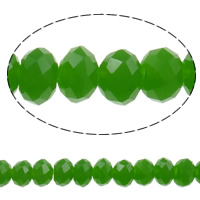 Imitation CRYSTALLIZED™ Element Crystal Beads, Rondelle, faceted & imitation CRYSTALLIZED™ crystal, Fern Green, 4x3mm, Hole:Approx 1mm, Length:Approx 18.7 Inch, 10Strands/Bag, Approx 150PCs/Strand, Sold By Bag