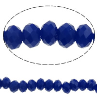Imitation CRYSTALLIZED™ Element Crystal Beads, Rondelle, faceted & imitation CRYSTALLIZED™ crystal, Dark Sapphire, 4x3mm, Hole:Approx 1mm, Length:Approx 18.7 Inch, 10Strands/Bag, Approx 150PCs/Strand, Sold By Bag