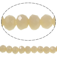 Imitation CRYSTALLIZED™ Element Crystal Beads, Rondelle, faceted & imitation CRYSTALLIZED™ crystal, Apricot, 4x3mm, Hole:Approx 1mm, Length:Approx 18.7 Inch, 10Strands/Bag, Approx 150PCs/Strand, Sold By Bag