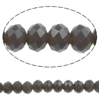 Imitation CRYSTALLIZED™ Element Crystal Beads, Rondelle, faceted & imitation CRYSTALLIZED™ crystal, Crystal Bronze Shade, 6x4mm, Hole:Approx 1mm, Length:Approx 16.1 Inch, 10Strands/Bag, Approx 100PCs/Strand, Sold By Bag