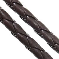 PU Cord, coffee color, 3mm, 100Yards/Lot, Sold By Lot