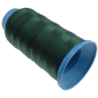 Nylon Thread, with plastic spool, without elastic, 9-yarn, deep green, 0.70mm, Length:310 m, 10PCs/Lot, Sold By Lot