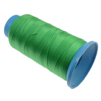 Nylon Thread, with plastic spool, without elastic, 9-yarn, apple green, 0.70mm, Length:310 m, 10PCs/Lot, Sold By Lot