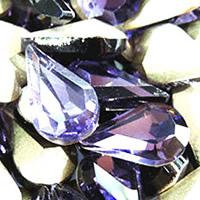 Стразы клеевые, Кристаллы, Каплевидная форма, плакирован серебром, граненый, аметист, 8x13mm, 288ПК/сумка, продается сумка