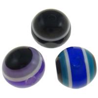 Koraliki z żywicy Zło Eye, żywica, Koło, pasek, mieszane kolory, 8mm, otwór:około 2mm, 1000komputery/torba, sprzedane przez torba