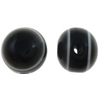 Koraliki z żywicy Zło Eye, żywica, Koło, pasek, czarny, 10mm, otwór:około 2mm, 1000komputery/torba, sprzedane przez torba