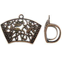 Zinc Alloy Scarf Slide Bail, antique copper color plated, lead & cadmium free, 45x33x18mm, Hole:Approx 3mm, 10PCs/Bag, Sold By Bag
