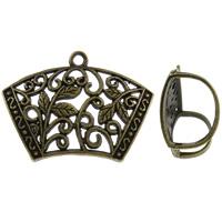 Zinc Alloy Scarf Slide Bail, antique bronze color plated, lead & cadmium free, 45x32x18mm, Hole:Approx 3mm, 10PCs/Bag, Sold By Bag