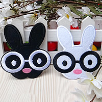 Iron on Patches, Cloth, Rabbit, mixed colors, 70x79mm, 100PCs/Lot, Sold By Lot