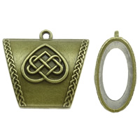 Zinc Alloy Scarf Slide Bail, antique bronze color plated, nickel, lead & cadmium free, 38x34x17mm, Hole:Approx 2.5mm, Sold By PC