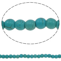 Turquoise Beads, Round, different size for choice, blue, Hole:Approx 1-1.5mm, Sold Per Approx 15 Inch Strand