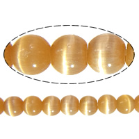 Cats Eye Jewelry Beads, Round, reddish orange, 3mm, Hole:Approx 0.8mm, Length:Approx 16 Inch, 20Strands/Lot, Approx 40PCs/Strand, Sold By Lot
