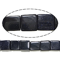 Blue Goldstone Beads, Cube, 10mm, Hole:Approx 1mm, Length:Approx 16 Inch, 10Strands/Lot, Approx 40PCs/Strand, Sold By Lot
