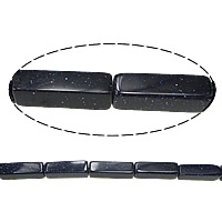 Blue Goldstone Beads, Rectangle, 14x4mm, Hole:Approx 0.5mm, Length:Approx 16 Inch, 20Strands/Lot, Approx 30PCs/Strand, Sold By Lot