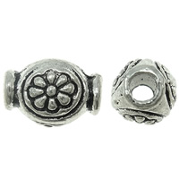 Zinc Alloy Jewelry Beads, Drum, antique silver color plated, lead & cadmium free, 9x6mm, Hole:Approx 2mm, Approx 1420PCs/Bag, Sold By Bag