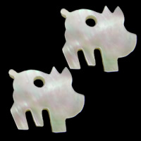 Natural White Shell Pendants, 17x15.50x2mm, Hole:Approx 2.8mm, 20PCs/Lot, Sold By Lot