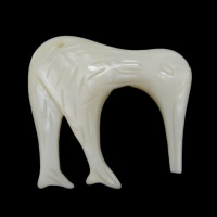 Natural White Shell Pendants, Elephant, 31x29x6mm, Hole:Approx 2mm, 10PCs/Lot, Sold By Lot