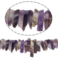 Natural Amethyst Beads, February Birthstone, 25-58mm, Hole:Approx 2mm, Length:Approx 15.7 Inch, 5Strands/Lot, Sold By Lot