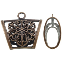 Zinc Alloy Scarf Slide Bail, antique copper color plated, lead & cadmium free, 39x37x16mm, Hole:Approx 5mm, Sold By PC