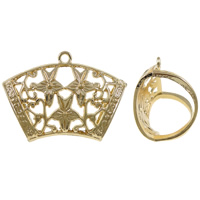 Zinc Alloy Scarf Slide Bail, gold color plated, lead & cadmium free, 44.50x32x20mm, Hole:Approx 3mm, 10PCs/Bag, Sold By Bag