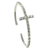 Zinc Alloy Cuff Bangle, platinum color plated, nickel, lead & cadmium free, 70x55x19mm, Length:Approx 7.5 Inch, Sold By PC