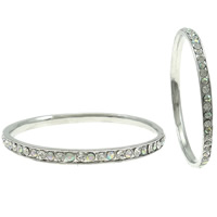 Zinc Alloy Bangle, platinum color plated, with rhinestone, nickel, lead & cadmium free, 70x5mm, Length:Approx 7.5 Inch, Sold By PC