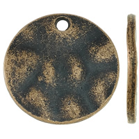 Zinc Alloy Flat Round Pendants, antique copper color plated, nickel, lead & cadmium free, 24x2mm, Hole:Approx 3mm, Approx 200PCs/KG, Sold By KG