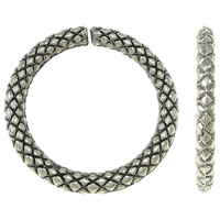 Zinc Alloy Linking Ring, Donut, antique silver color plated, textured, nickel, lead & cadmium free, 16x2mm, Hole:Approx 12mm, Approx 2500PCs/KG, Sold By KG