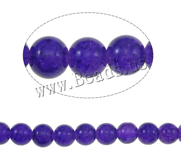 Buy Crackle Glass Beads Round purple 10mm Hole:Approx 1mm Length:Approx 40 Inch 10Strands/Bag Sold Bag