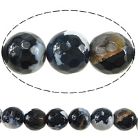 Natural Fire Crackle Agate Beads, Fire Agate, Round, different size for choice & faceted, Hole:Approx 1-1.2mm, Length:Approx 15 Inch, Sold By Lot